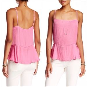NEW Free People Pink Silk Top Size Large
